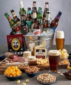Send A Beer Gourmet Gift Bucket