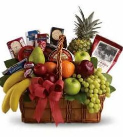 Fruit and Gourmet Gift Basket