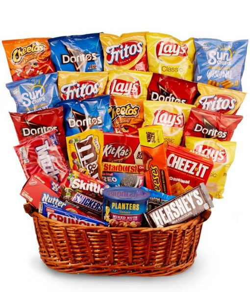 Candy and Chips Gift Basket