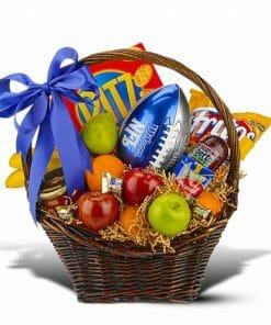 Football Themed Gift Basket