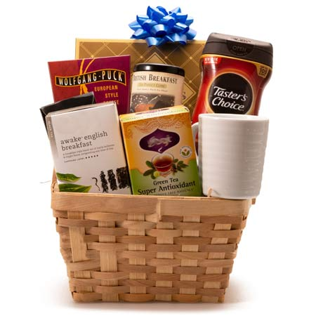 Get Up Coffee and Tea Gift Basket