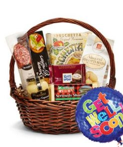 Get Well Gift Basket and Balloon