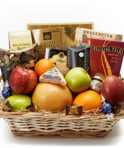 Gourmet Fruit and Cheese Gift Basket