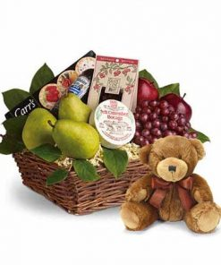 Premium Gift Basket With Teddy Bear