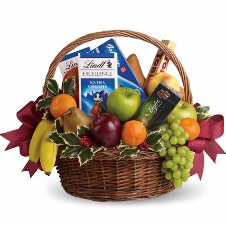 Birthday Fruit Basket With Chocolate
