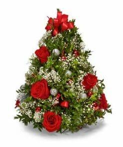 Christmas Tree Flower Table Centerpiece