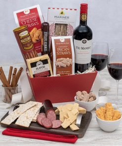 Send The Classic Red Wine Gourmet Gift Basket