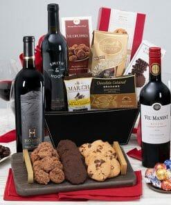 Send A Wonderful red wine gift basket