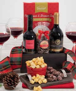 Send A Christmas Wine Gift Basket To Someone Special