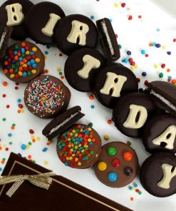HAPPY BIRTHDAY! There is nothing sweeter than a delicious OREO® Cookie. That is of course nothing besides a BELGIAN CHOCOLATE COVERED OREO® Cookie. Make their birthday extra special this year with a delicious and sweet gift that says Happy Birthday loud and clear.